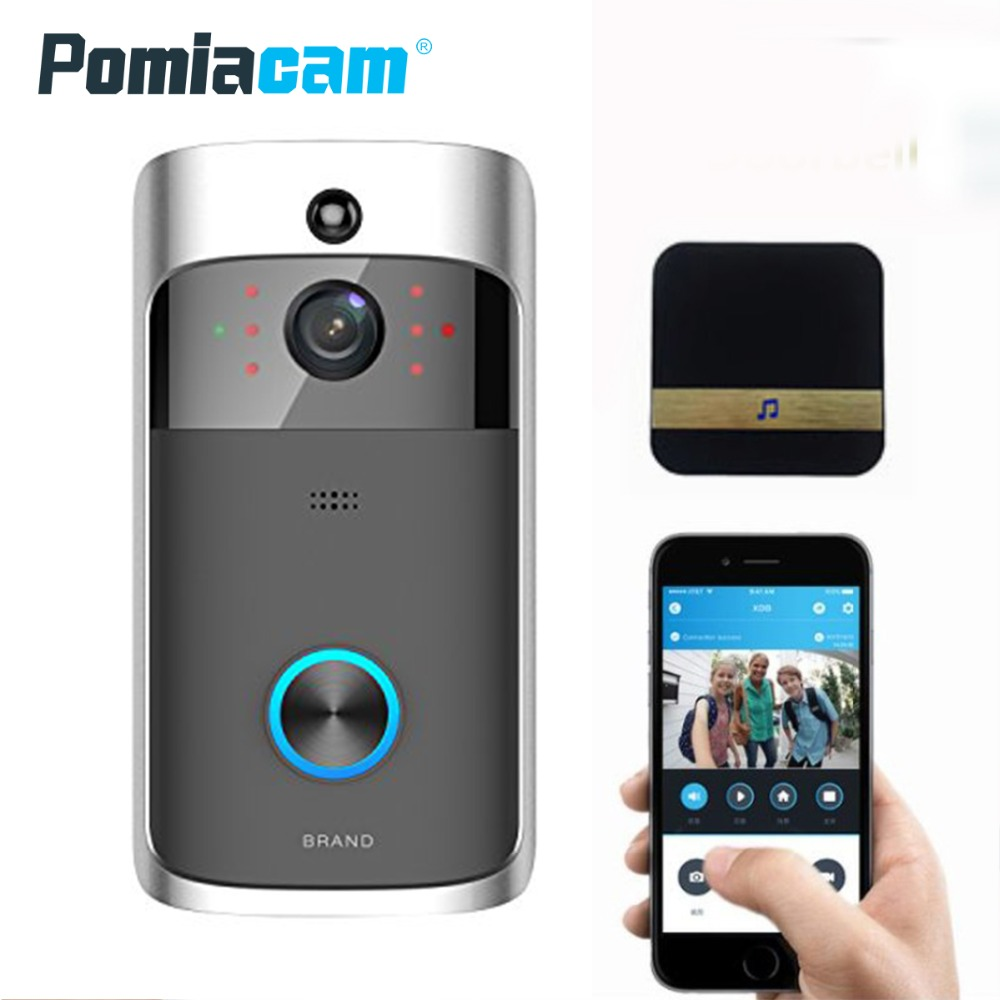 D06 Wireless Doorbell Ring Chime Door Bell Video Camera WiFi IP 720P IR Night Vision Two Way Audio with Ring chime dingdong ks v2 welcom chime bell sensor