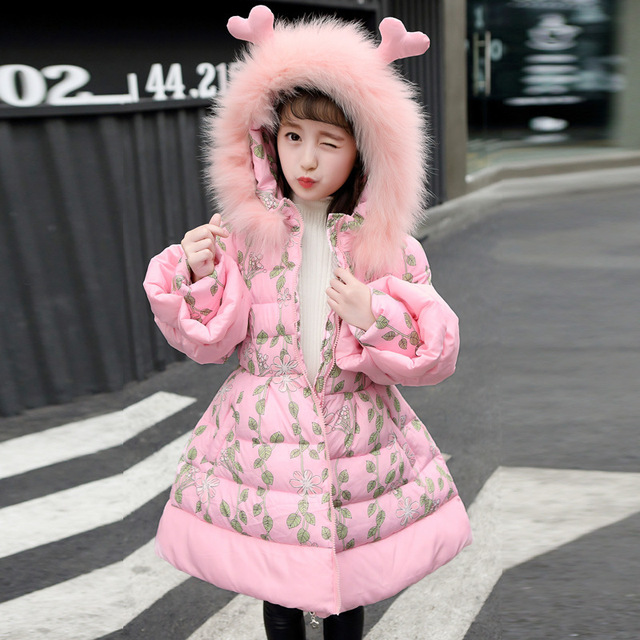 6c74db776 US $51.65 |Girls Parkas 2018 Toddler Girls Winter Coats Jackets Cotton  Hooded Warm Down Coat Thick Natural Fur Children Outwear 10 11 12 13-in  Down & ...