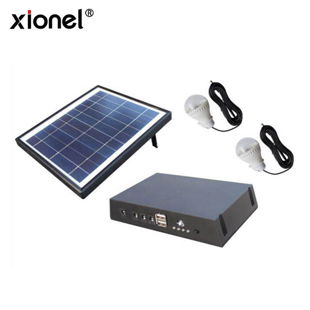 Xionel New Design 5V 4000mah Mini Portable Home Solar Power Lighting System