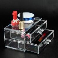 Nova Maquiagem Cosméticos Organizador Acrílico Transparente Batom Carrinho de Exposição de Jóias Titular Rack de Unha Polonês Transporte da gota