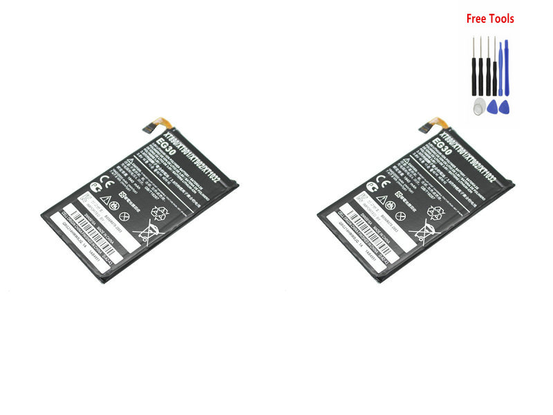 2x 2000mAh / 7.6Wh Replacement EG30 Battery For Motorola