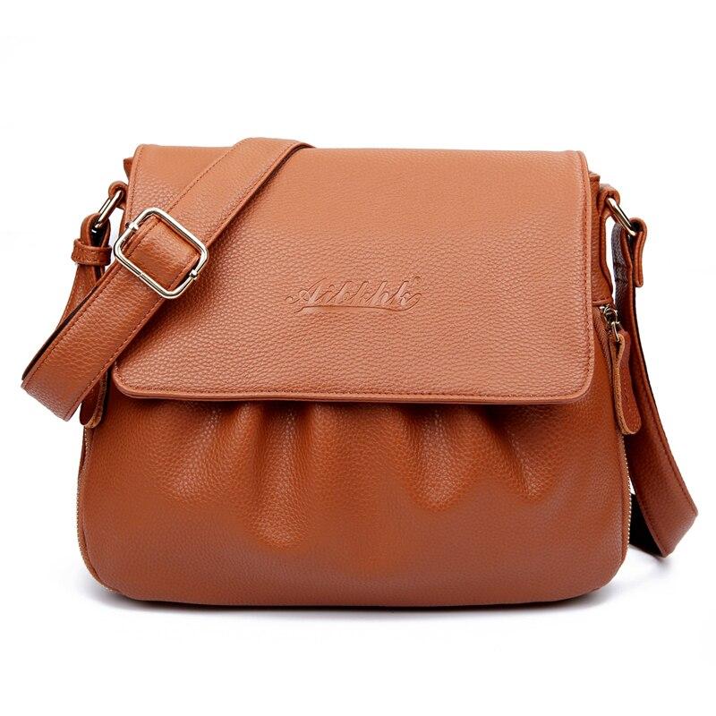 Image 3 - High Quality Genuine Leather Womens Handbags Casual Female  Shoulder Bags Women Messenger Crossbody Bag Travel Bag Free Shippingbag  boutiquebag motorbikebag bead
