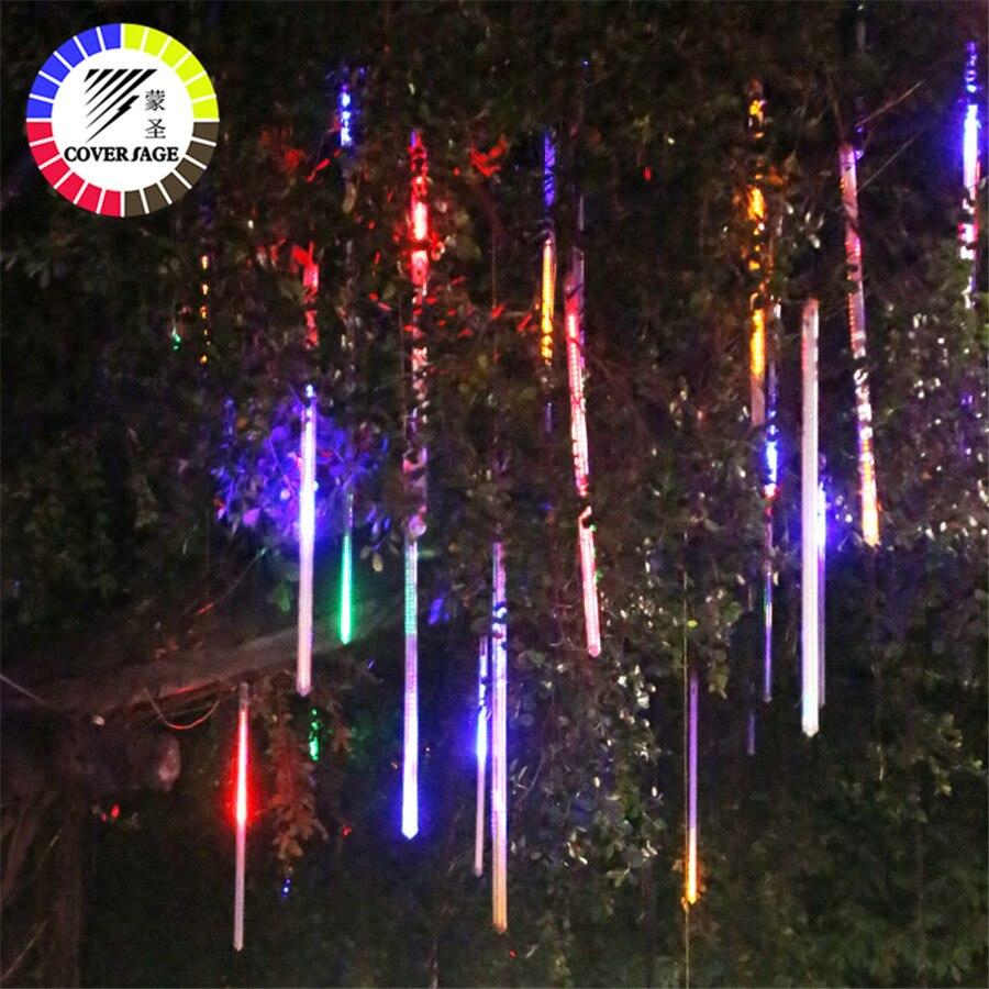 Coversage Fée Luces Led Decoracion 50 cm Led Météore Jardin Guirlande Arbre De Noël Lumières Décoratives Guirlandes En Plein Air