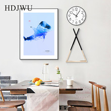 Nordic Simple Art Home Canvas Wall Picture Animal Shark Creative Decoration Poster for Living Room  DJ293