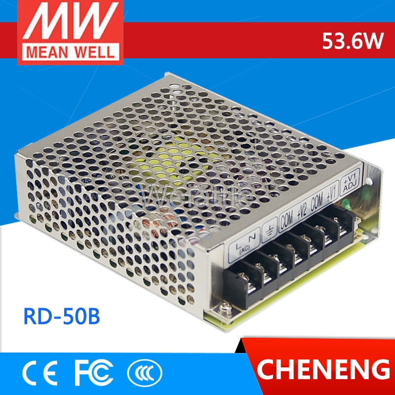 цена на MEAN WELL original RD-50B meanwell RD-50 53.6W Dual Output Switching Power Supply