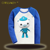 Captain Barnacles Long Sleeve T Shirts For Boys And Girls The Octonauts Cartoon Printed Sports Shirt