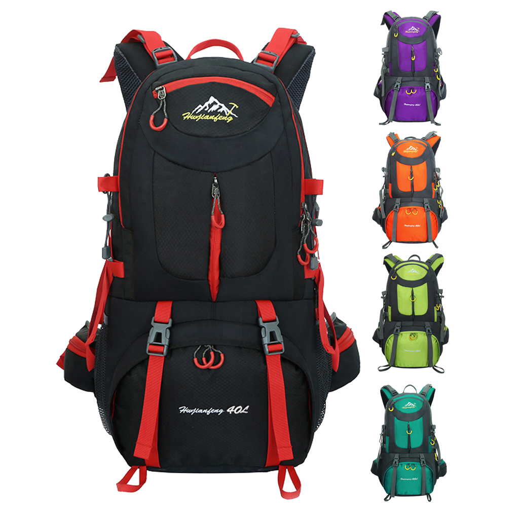40L Waterproof Outdoor Climbing Backpack Camping Hiking Rucksack Bag for Kayaking Canoe Surfing Caving Accessories 40l outdoor hiking backpack 2l personal waist bag for travel climbing camping