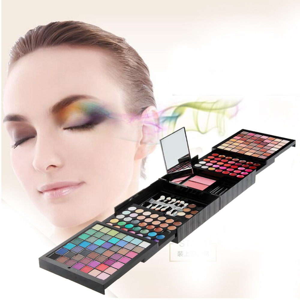 New Arrival 177 Color Makeup Set Eyeshadow Palette Blush Lip Gloss Brow Shader Concealer Eyeshadow Gel + Brusher brand new 120 color eyeshadow palette cosmetics makeup eyeshadow palette eyeshadow set