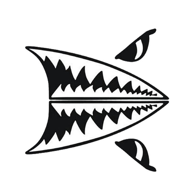 28*14CM Car Styling Mini Shark Tooth Shark Body Decal
