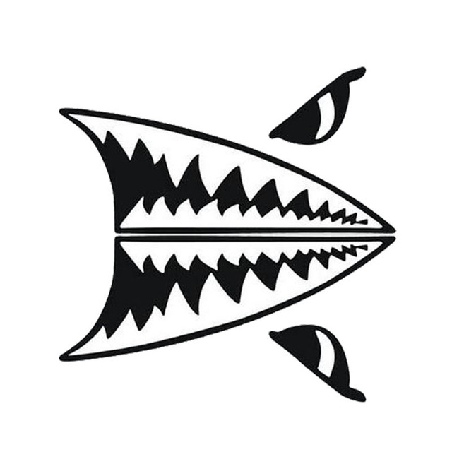 28 14cm Car Styling Mini Shark Tooth Shark Body Decal