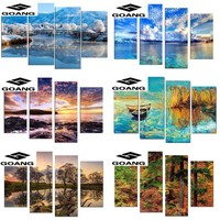 GOANG 2017 Diamond Embroidery 5D DIY Diamond Painting 4PCS Scenery 3d Diamond Painting Cross Stitch Rhinestone