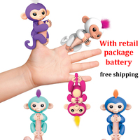 2017 New Fingerlings Interactive Baby Monkeys Toy Smart Colorful Fingers Llings Smart Induction Toys Christmas Gift