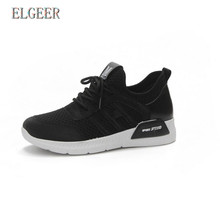Spring and Autumn New Womens Shoes Casual Mesh Breathable Lightweight Vulcanize