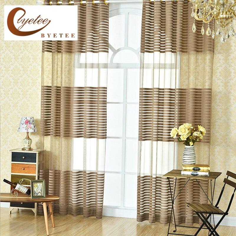 Kitchen Curtain Fabric: [byetee] Window Sheer Curtain Fabrics Kitchen Yarn Organza