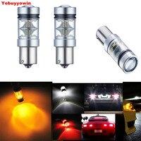 2pcs Lot Auto Car 6000K 1156 BA15S P21W 7506 CREE Chips 100W Car LED Backup Reverse