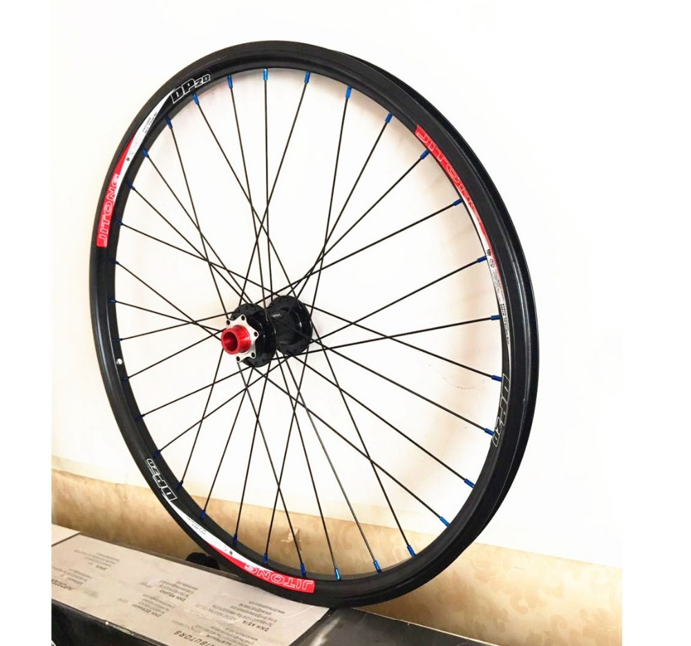 Downhill Mountain Bike26 Front Wheels DH MTB Aluminium Alloy Wheelset 26er Mountain Bicicleta for 3cm tire Drum shaft 20mm cool price 2015 rt a3 carbon wrapped hub 26 inch light weight aluminum alloy flat mtb mountain bike wheelset 5 sealed bearings