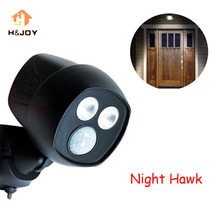 Беспроводной светодиодный светильник Hawk с активированным ночным движением, спортивный светильник, супер яркий дверной светильник, безопасный и безопасный светильник для вашего дома, ночной Светильник Hawk