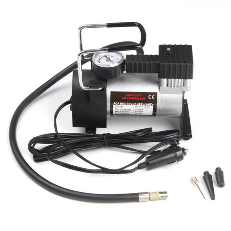 Automobile Compressor 12V 150psi Heavy Duty Deluxe Portable Metal Air Compressor Car Tyre Inflator Auto Pump With 3 Adaptor Kits