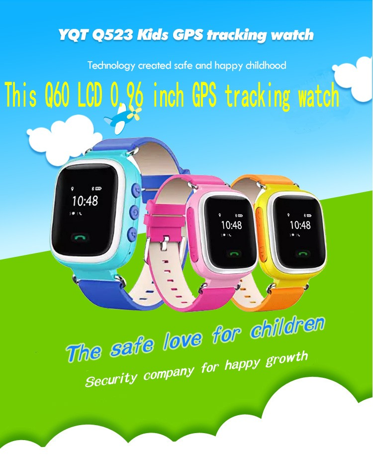2016 GPS Tracker Watch for Kids Safe GPS Watch Q60 0 96 inch LCD smart Wristwatch