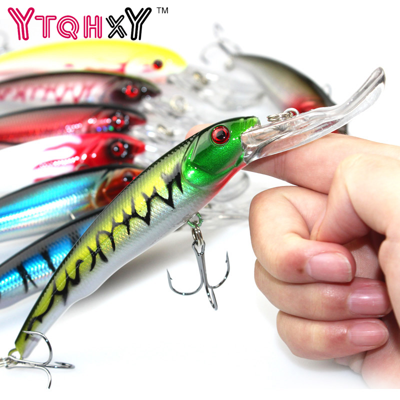 16.5cm 29g Minnow Fishing Lures  Japan Deep swim Saltwater Hard Bait Artificial Wobbler Fish Swim Bait Diving 3D Eyes YE-255 1pcs 16 5cm 29g big minnow fishing lures deep sea bass lure artificial wobbler fish swim bait diving 3d eyes