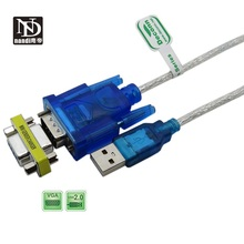 цена на USB to RS-232 DB9 9-pin Serial Cable w/ Female Adapter Supports Windows 8 No CD