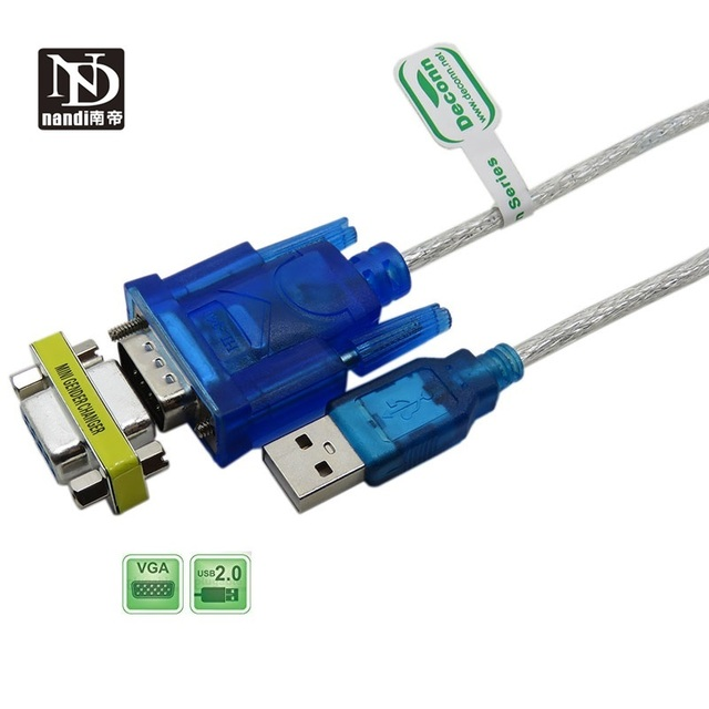USB to RS 232 DB9 9 pin Serial Cable with Female Adapter Supports 2M Windows 8 No CD