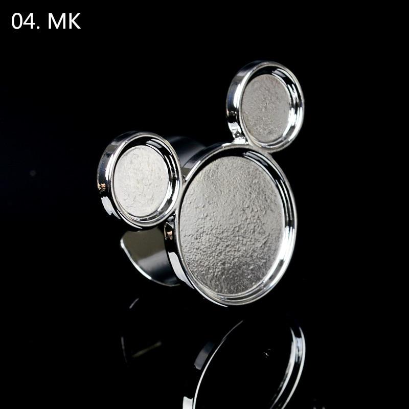 1pc armas mini küünte kunst metallist sõrme rõnga palett segamine - Küünekunst - Foto 5