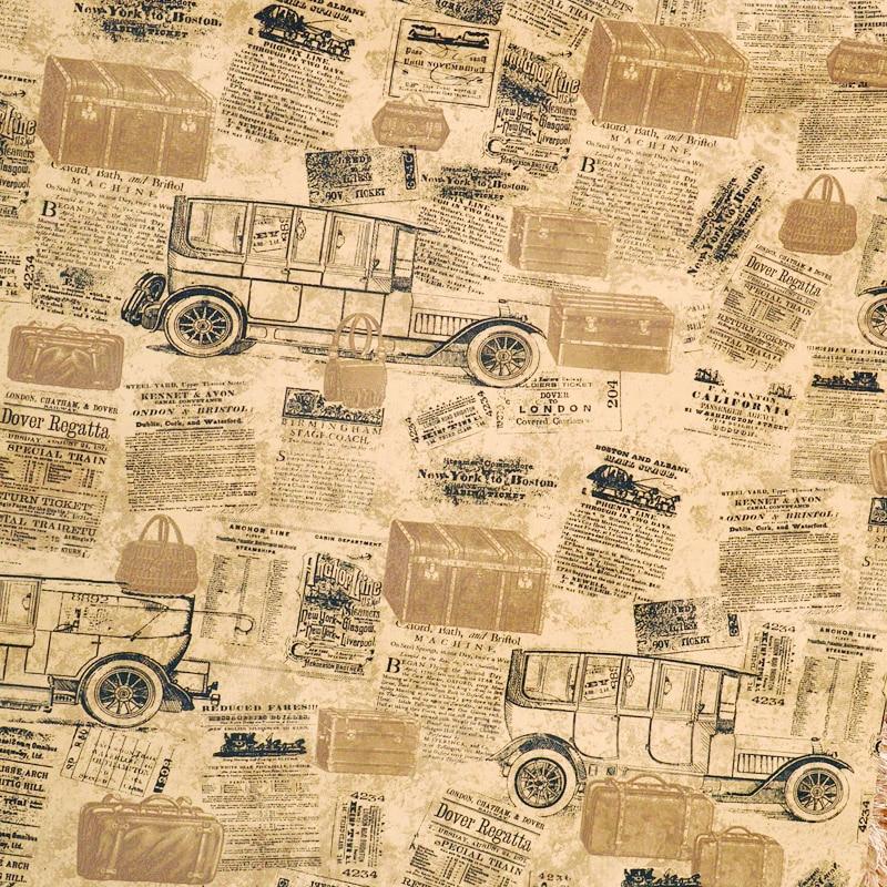 Vintage Style de voiture lettre de fond murale papier peint Vinly ...