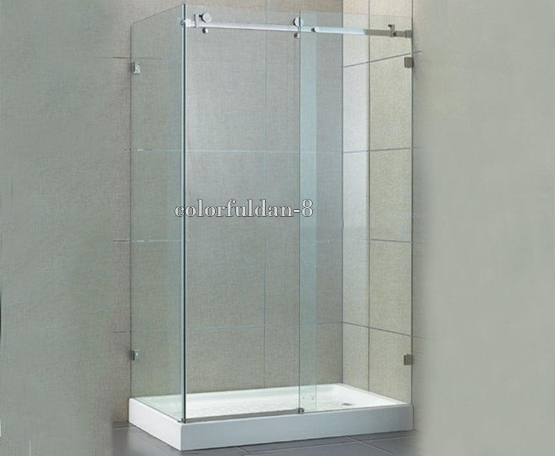 High Quality 1Set Stainless Steel Frameless Sliding Shower Doors Hardware set L Shape Cabin Hardware Without Bar or Glass Door