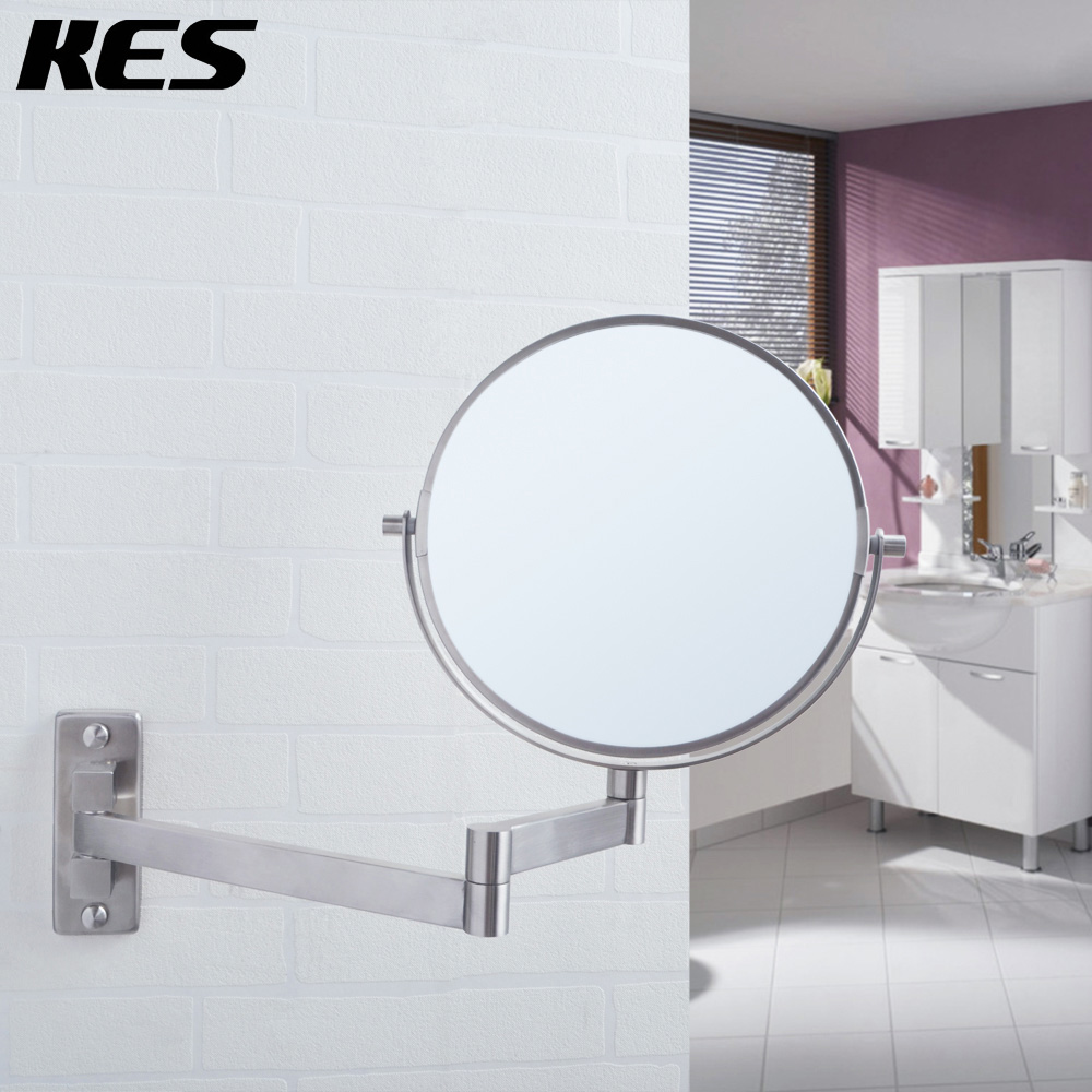 KES SUS304 Stainless Steel Bathroom 5x Magnification Two Sided ...