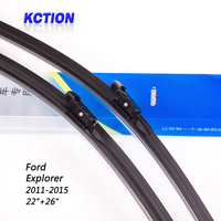 Car Windshield Wiper Blade For Ford Explorer 2011 2015 22 26 Natural Rubber Bracketless Car Accessories