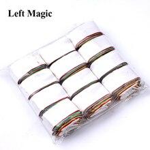 12 катушек/лот Разноцветные бумажные фокусы для рта, красочные катушки для рта, магический реквизит, товары для мага, Магическая иллюзия, игрушки