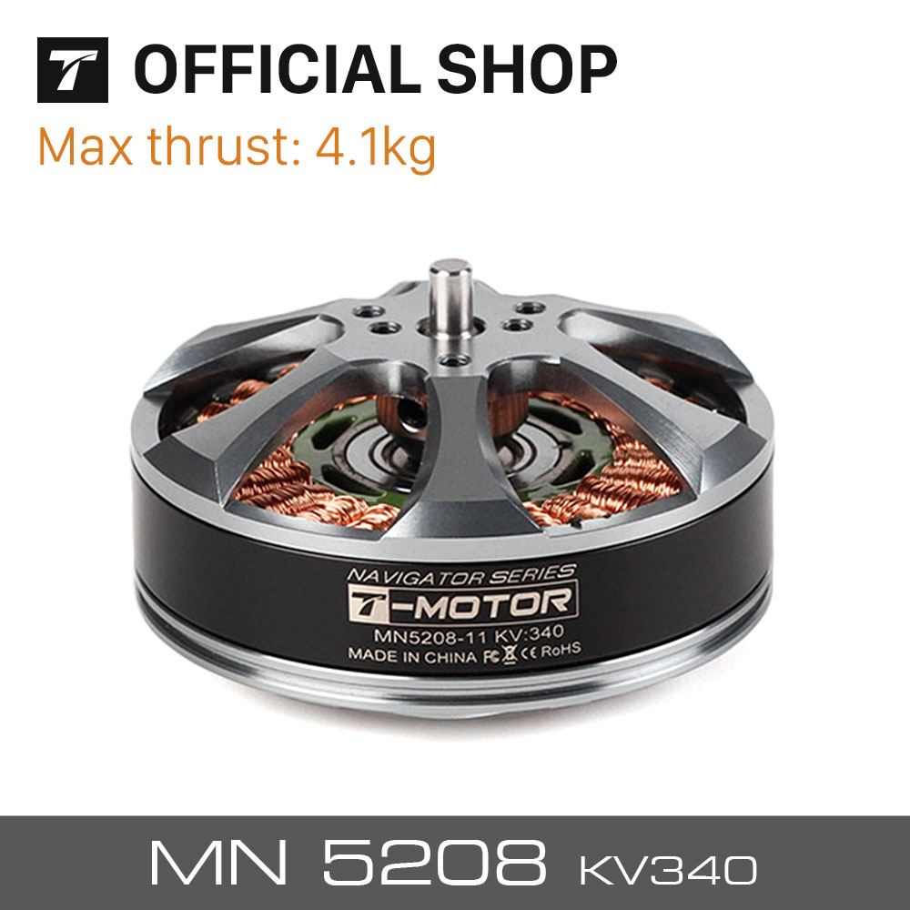 T-motor High quality Tiger brushless motor MN5208 KV340 for UAV drones quadcopters multi-rotor professional boats