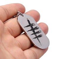 جولي 10 قطعة/الوحدة الميت خلال النهار dog tag شعار سبائك قلادة المفاتيح لمشجعي سيارة لعبة المجوهرات حلقة رئيسية حامل llaveros