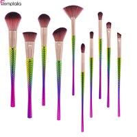 Новое поступление temptalia 10 шт. кисти для макияжа набор профессиональных Высокое качество набор кистей мягкие волосы красоты необходимые инс...