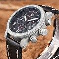 2016 nuevo diseño de los deportes top relojes de marca de lujo de los hombres reloj de cuarzo de acero inoxidable militar hombres relojes hombre reloj pagani design