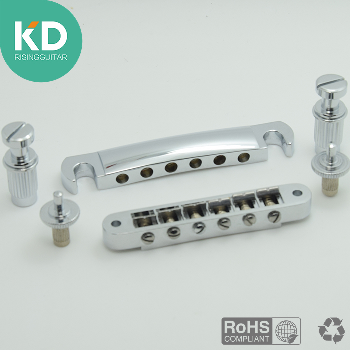 1 Set Electric Guitar Bridge Tune-O-Matic Guitar Bridge and Tail piece Chrome for LP Guitar Replacement KD 2 holes aluminum alloy guitar truss rod cover bell shape fits for epiphone les paul lp for electric guitar replacement part new
