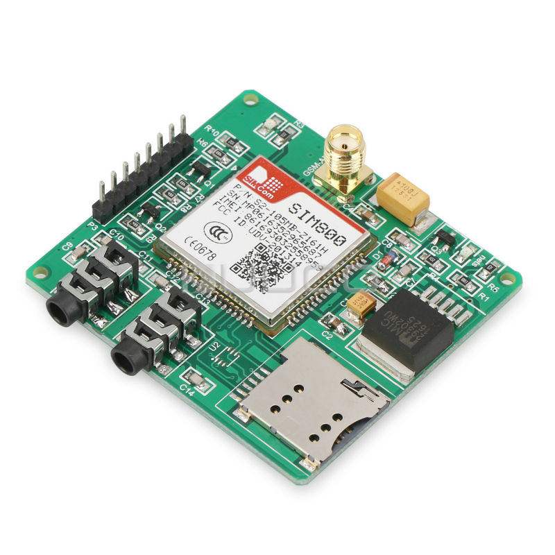 SIM800 Quad-band Add-on Development Board GSM/GPRS/MMS/SMS/STM32 for UNO exceed SIM900A UNVSIM800 Expansion Board m35 gsm gprs cell phone development board module w voice interface antenna blue