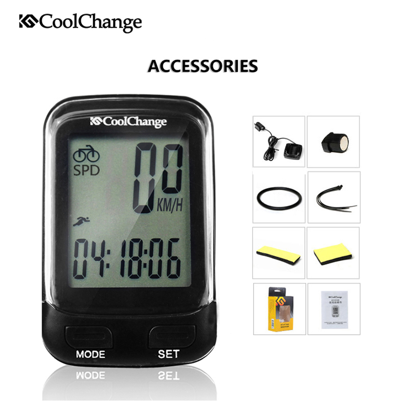 цены на CoolChange Bike Computer Waterproof Wired Wireless Multifunction Bicycle LCD Computer Speedometer Cycling Odometer Accessories  в интернет-магазинах
