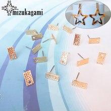 20 шт/лот прямоугольные золотистые коннекторы из цинкового сплава