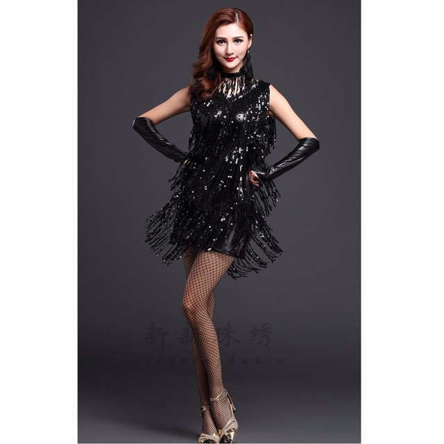 Women Dance Clothes Salsa Costume 3pcs Set with Necklace Ballroom Competition Latin