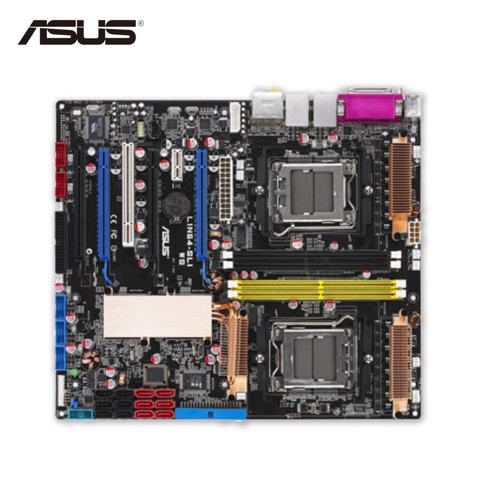 все цены на Asus L1N64-SLI WS Desktop Motherboard Geforce680a SLI Socket L1 DDR2 8G SATA2 USB2.0 Micro-ATX Second-hand High Quality онлайн