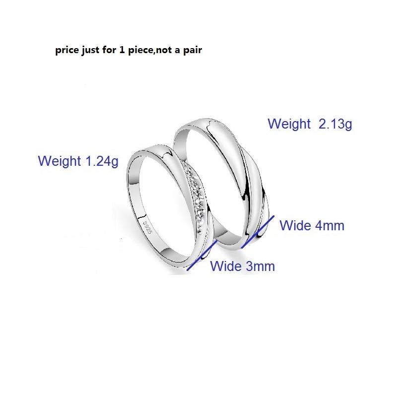 17a984dbc3fc Megrezen boda pareja Anillos zirconia joyería anillo de compromiso para los  hombres y las mujeres dropshipping anillos de plata con piedras yr030 en  Anillos ...
