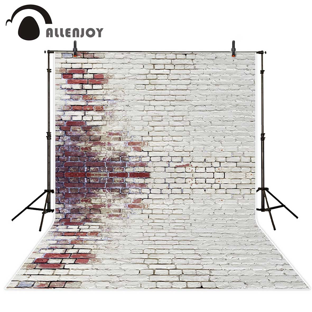 Allenjoy vinyl photography backdrop Variegated white mottled ancient brick wall new background photocall customize photo printer