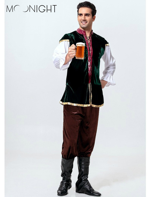 MOONIGHT Man Oktoberfest Costumes Octoberfest Bavarian Beer Party Clothes Adult Men Hot