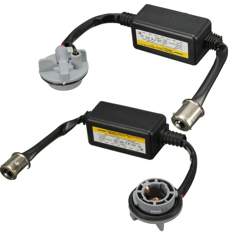 2 Stücke 1156 BA15S P21W Fehlerlose LED Decoder Warnung Canceller Anti Flimmern Last Canbus Widerstand Für LED Blinker birne
