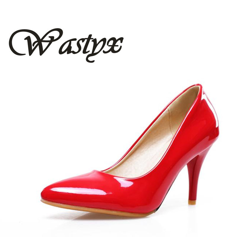 New woman shoes 2017 fashion pointed toe women shoes pumps high heel wedding shoes ladies big size footwear 34-47 zapatos mujer 2015 fashion women pumps high heel pointed toe shoes soft leather elegant ladies wedding shoes red black size 34 40