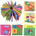 Venta caliente 1 unid paño de Tela Libro Del Bebé Desarrollo Temprano de Juguetes Educativos de juguete de Regalo Para 0-3Y Despliegue Suave Libros de Animales Mini Tamaño 10*9 cm