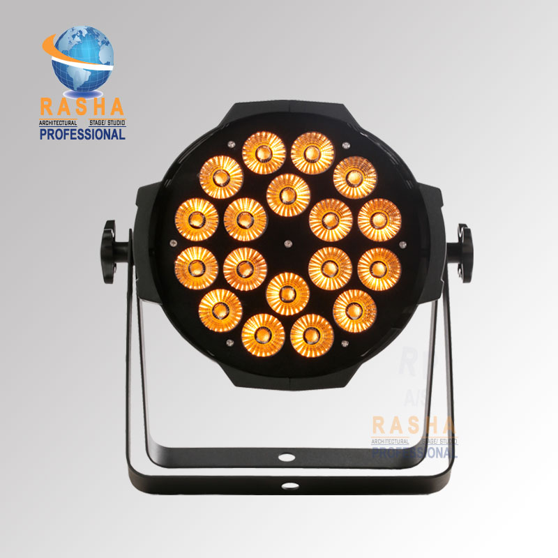 24X LOT Rasha Hex 18*18W 6in1 RGBAW UV LED Par Light,Aluminum( LED Par Can With DMX IN&OUT,Power IN&OUT For Stage Event Project pro svet light psl led uv 18 dmx