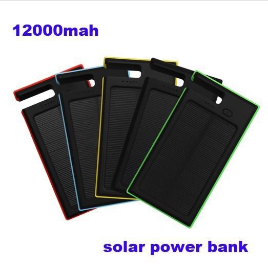 Es-900 12000 mah solar impermeable cargador de batería dual usb del banco móvil de la energía externa para el iphone para samsung xiaomi